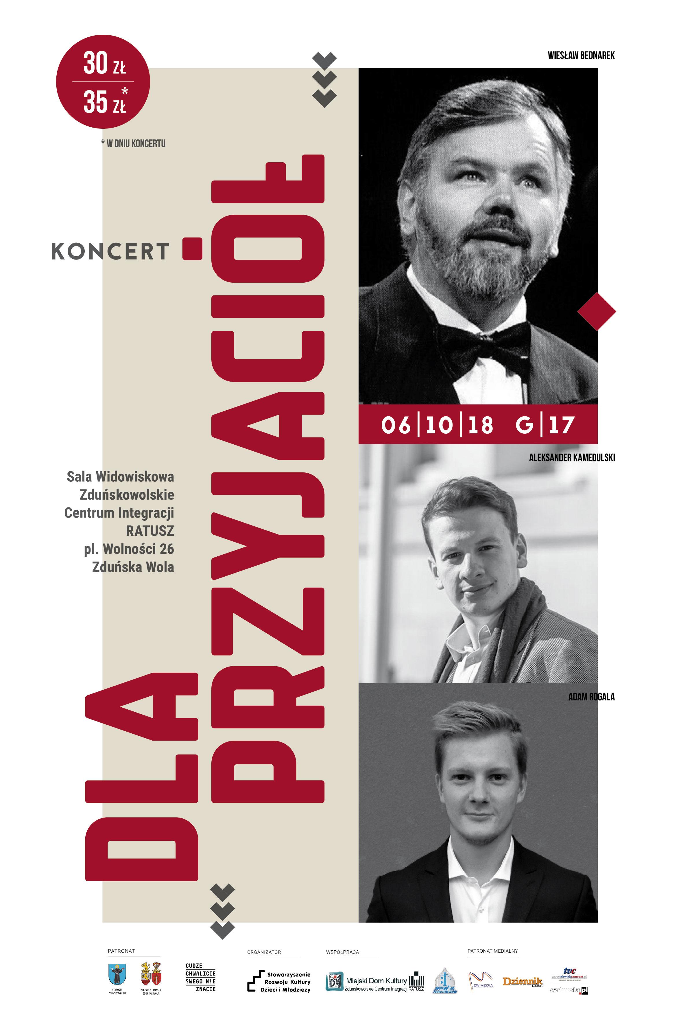 Dla Przyjaciół – koncert Wiesława Bednarka