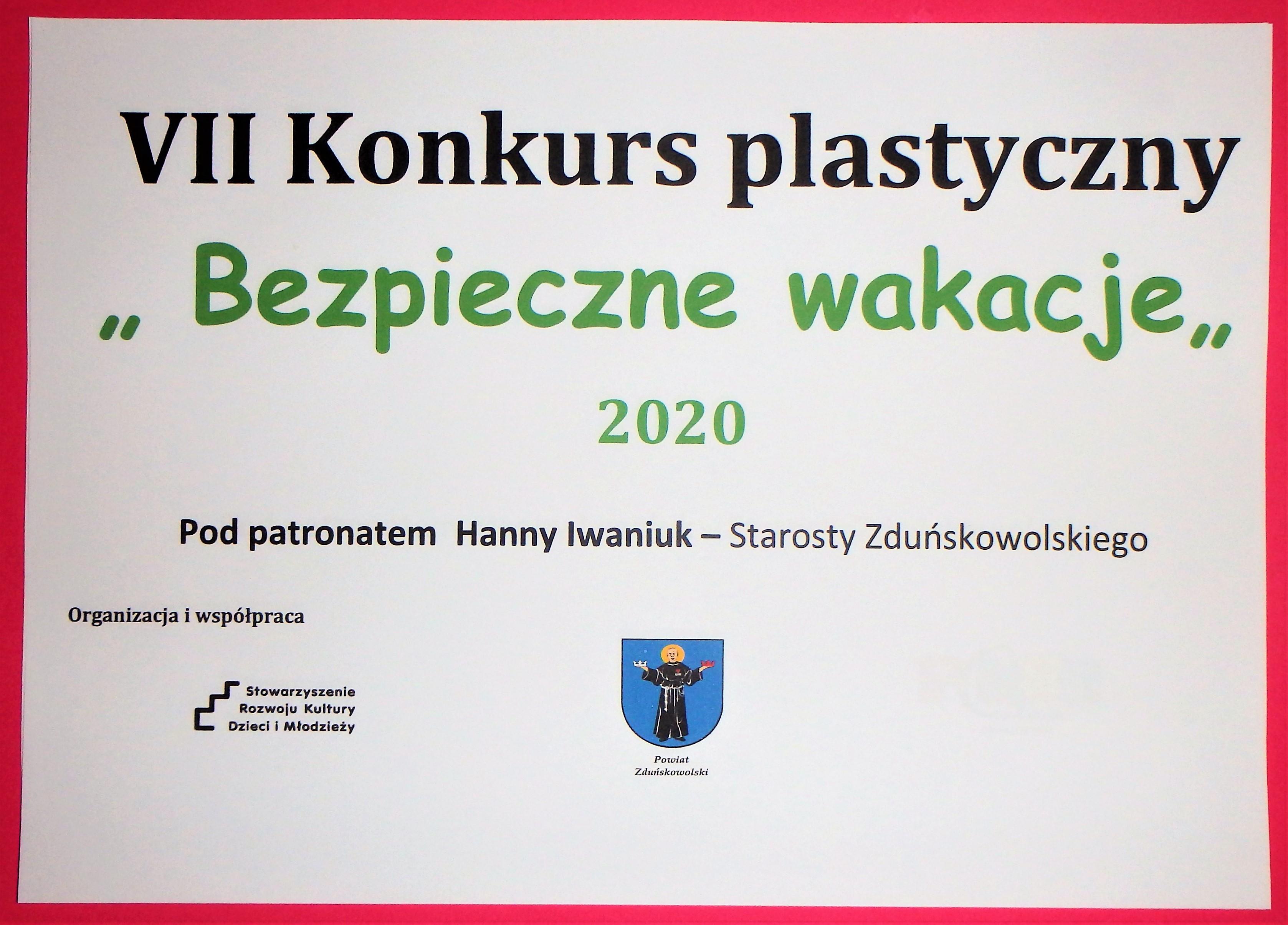"""Wyniki konkursu """"Bezpieczne Wakacje"""" 2020"""