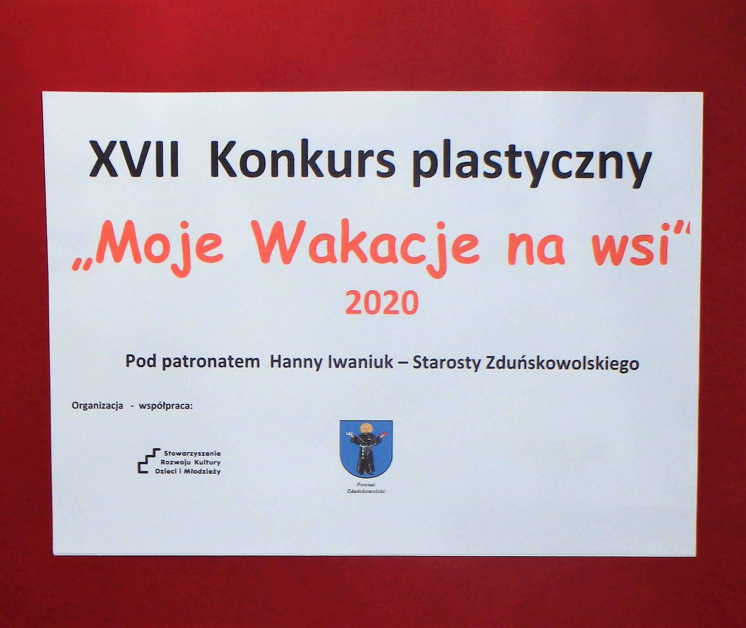 """Wyniki konkursu """"Moje Wakacje na wsi"""" 2020"""